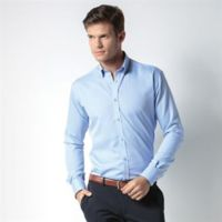 Slim fit non-iron Oxford twill shirt long sleeve Thumbnail