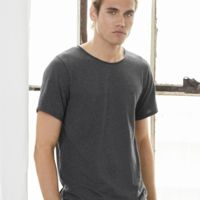 Canvas Mens Jersey Raw Neck Tee Thumbnail