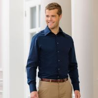 Long sleeve Tencel® fitted shirt Thumbnail