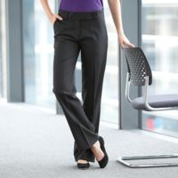Women's polyester bootleg trousers Thumbnail