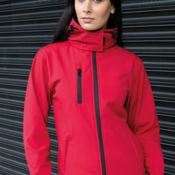 Result Core Ladies Lite Hooded Softshell Thumbnail