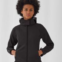 B&C Womens Hooded Softshell Thumbnail