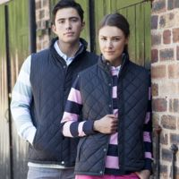 Women's diamond quilt gilet Thumbnail