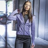 Women's lightweight running hoodie with reflective tape Thumbnail
