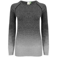 Women's seamless fade out long sleeve top Thumbnail