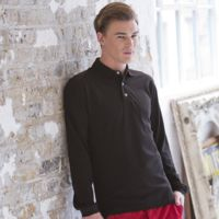 Long sleeve cotton polo Thumbnail