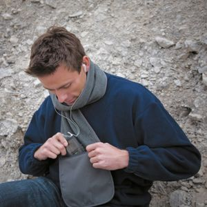 Active Fleece Scarf with Zip Pocket Thumbnail