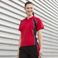 Women's jersey team polo Thumbnail