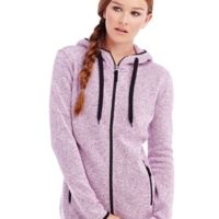 Ladies Active Knit Fleece Jacket Thumbnail