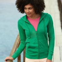Lady-fit lightweight hooded sweatshirt jacket Thumbnail