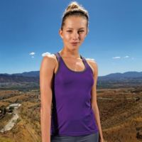 Women's panelled TriDri® fitness vest Thumbnail