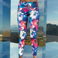 Women's TriDri® performance flower leggings full-length Thumbnail