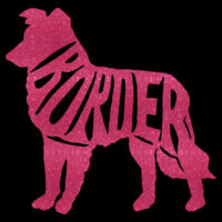 Border Collie Pink Glitter - Result Core Mens Printable Sshell B/Warm Design