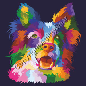 Personalised abstract Collie  - Cross neck hoodie Design