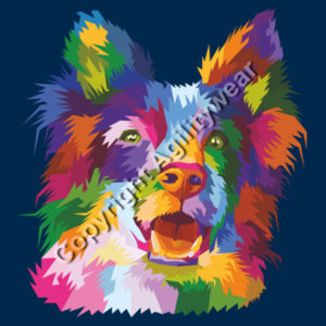 Personalised abstract Collie  - kids College Hoodie Design