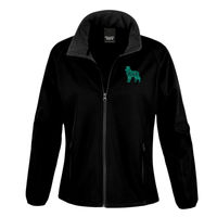 Border Collie turquoise Glitter - Result Core Ladies Printable Softshell jacket Thumbnail