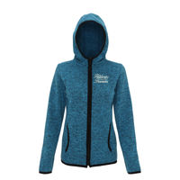 Positively Pawsome - Tri Dri  melange knit fleece jacket  Thumbnail
