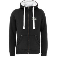 Positively Pawsome - Sherpa Fleece Zip Hoodie-Peach Finished Thumbnail