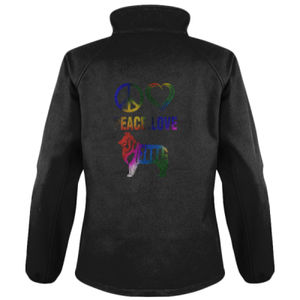 Peace Love Sheltie - Result Core Ladies Printable Softshell jacket Thumbnail